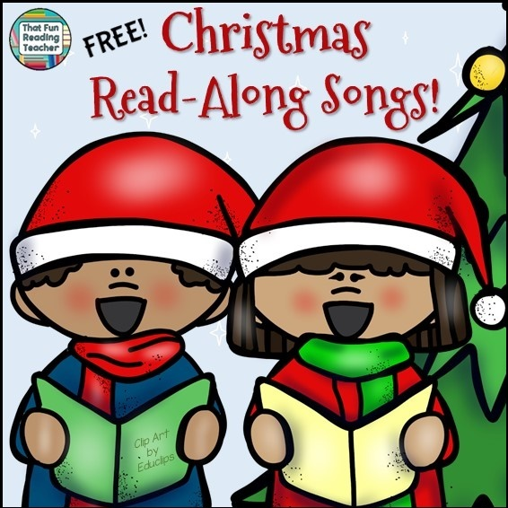 Christmas Read-Along Songs Playlist - FREE on ThatFunReadingTeacher.com