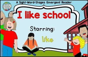 I Like School Level A #SWS Reader and Writing Activities Set $