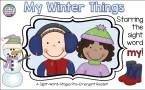 Guided Reading PreEmergent Sight-Word Reader - Winter Things $   ThatFunReadingTeacher