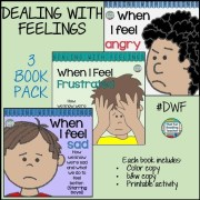 Color & b+w stories starring boys - How to recognize, express and manage tricky #feelings. Printable activity included. #DWF $