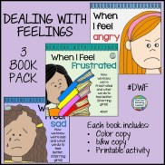 Color & b+w stories starring girls - How to recognize, express and manage tricky #feelings. Printable activity included. #DWF $