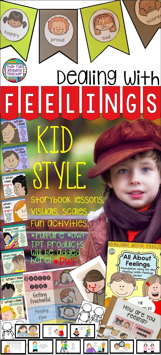 Teaching kids about feelings? The Dealing With Feelings Everything bundle has KID STYLE emotional regulation resources with storybook lessons ,visuals, tips, calming tools and strategies, activities and more! $ #teaching #regulateemotions #specialeducation #iteachprimary #kindergarten #DWF #calming #kids #education #visuals