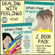 When I Feel Frustrated - recognizing, expressing & managing frustration. Printable activity, color and b&w versions of stories incl. $ #DWF