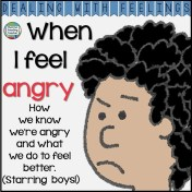 When I feel angry - color & b+w printable story K-3 #DWF $