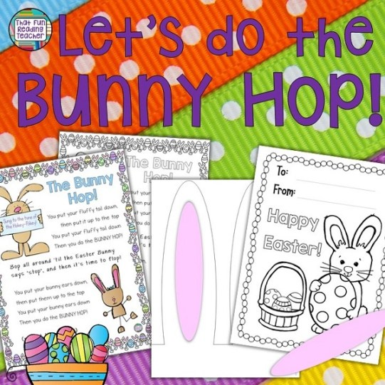 This fun Easter Song and Movement Craftivity is displayed on a colorful, decorative poster, and based on the tune of the Hokey-Pokey.