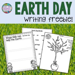 Earth Day Writing freebie