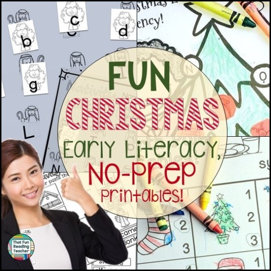 Fun Christmas Early Literacy No-Prep Printables!