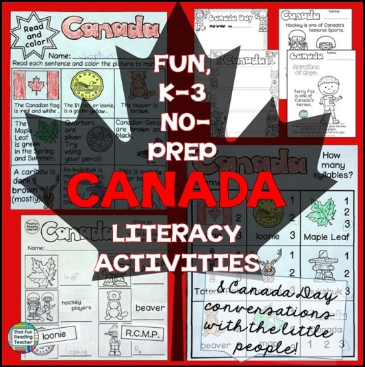 Blog Post - Fun, NoPrep Canada Literacy Activities and Canada Day conversations with the little people!