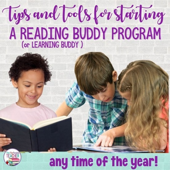 Tips and tools for starting a reading buddy in your classroom any time of year! | That Fun Reading Teacher.com #readingbuddies #teaching #teachersoftpt #literacy #education