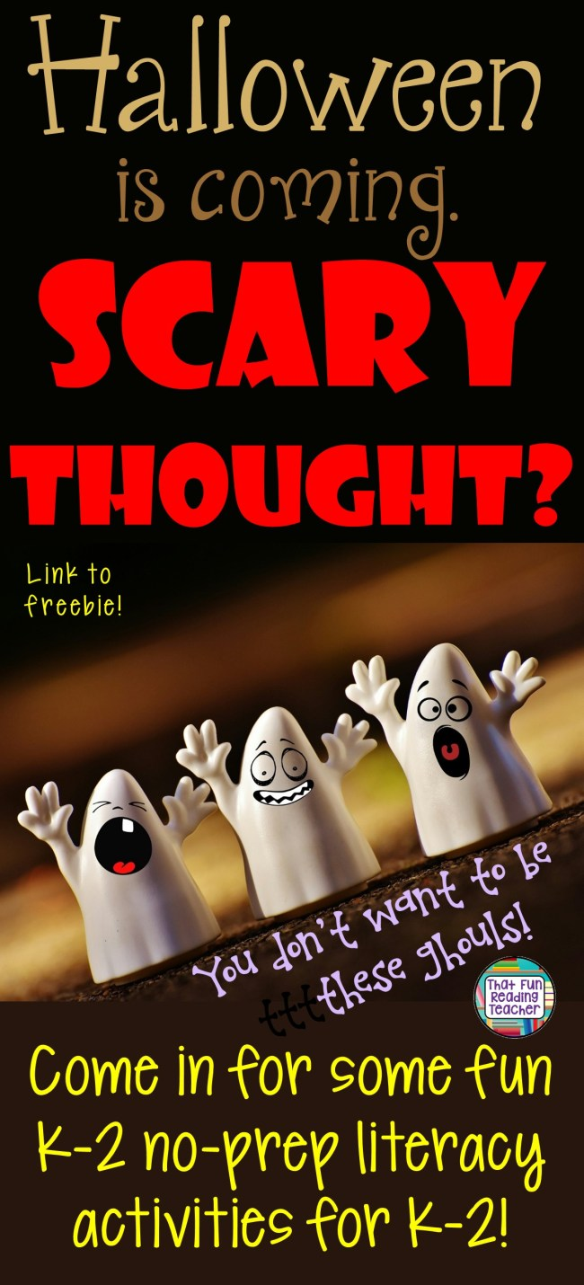 Come in for some fun Halloween literacy ideas for the K-2 crowd! A retell idea, Reading Buddy update, link to a freebie and more!