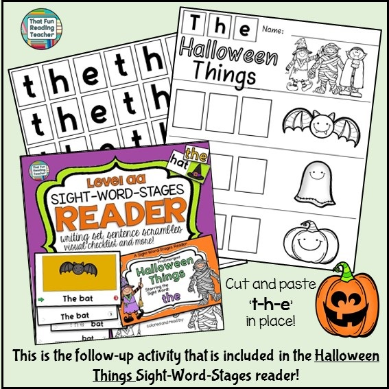 Halloween Things Sight Word Activity