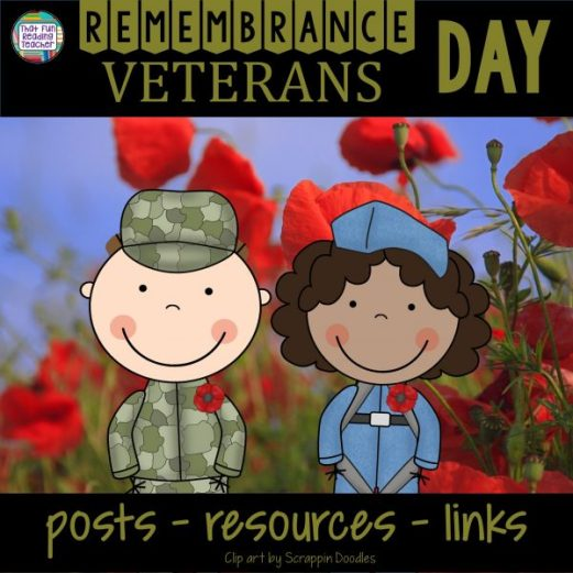 Remembrance Day Veterans Day posts, resources, links on That Fun Reading Teacher
