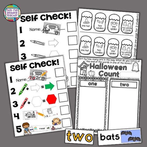 If you have purchased this Sight-Word-Stages Reader, Halloween Count, or any of the Bundles it comes in, you already have this cut and paste sorting activity for the sight words 'one'and 'two'!
