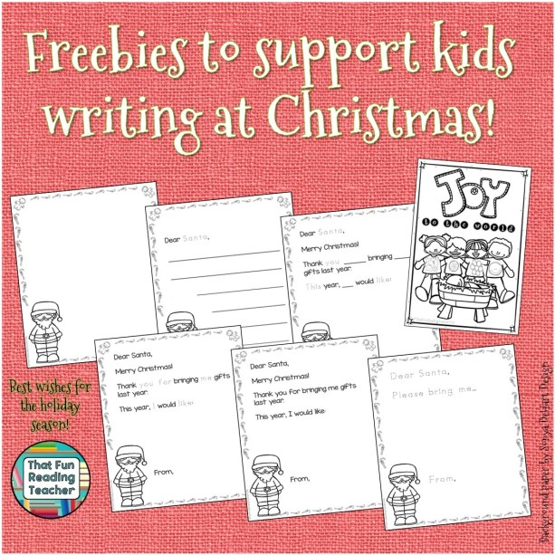 Christmas writing freebies!
