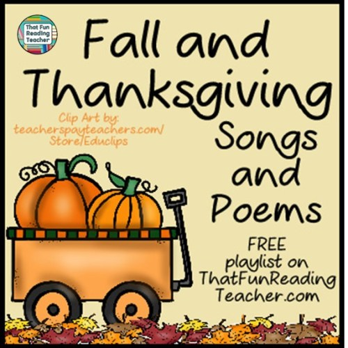 Fall and Thanksgiving Songs and Poems - FREE playlist