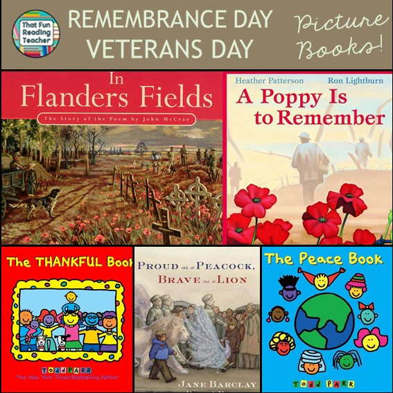 Remembrance Day and Veterans Day books for kids