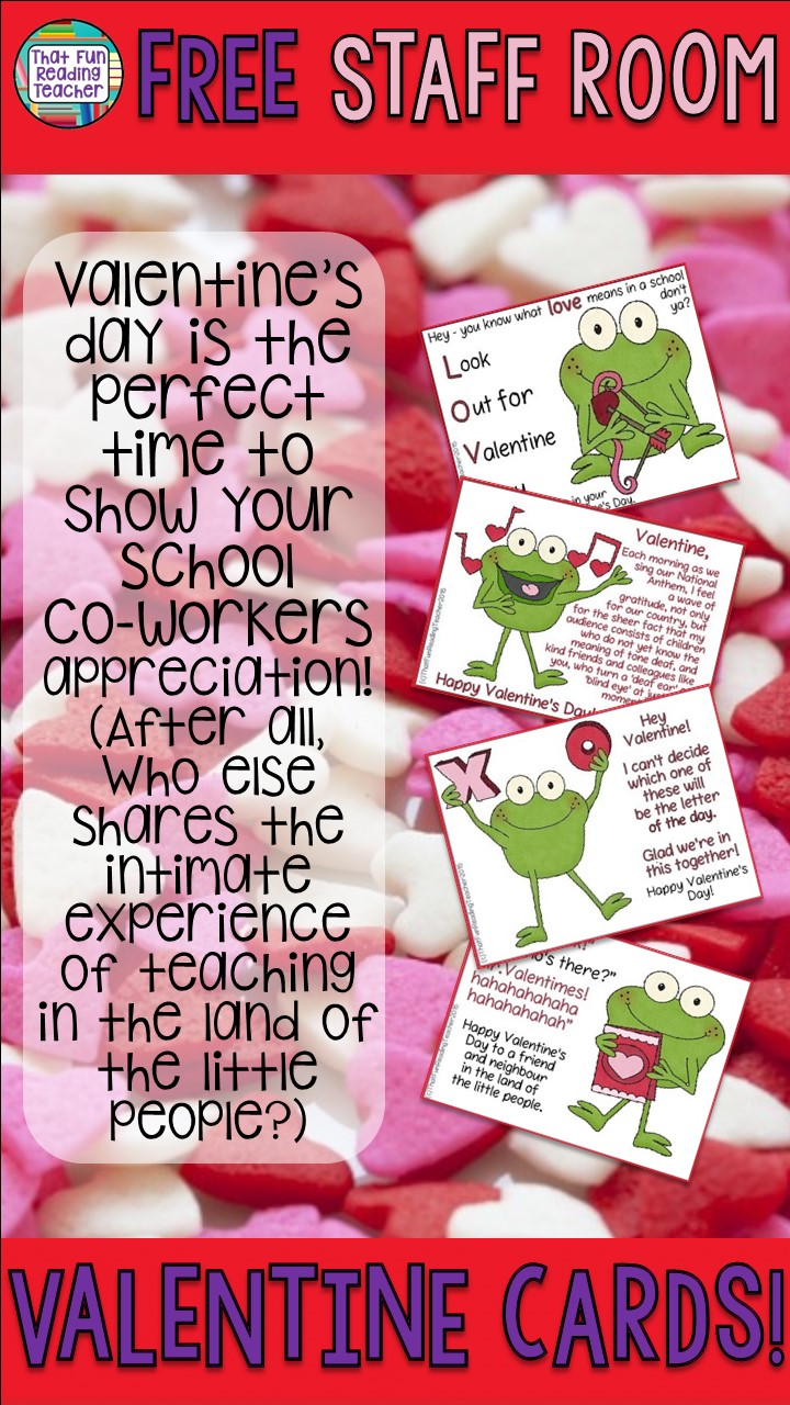 Valentine's Day cards for kindergarten and primary teachers - free!