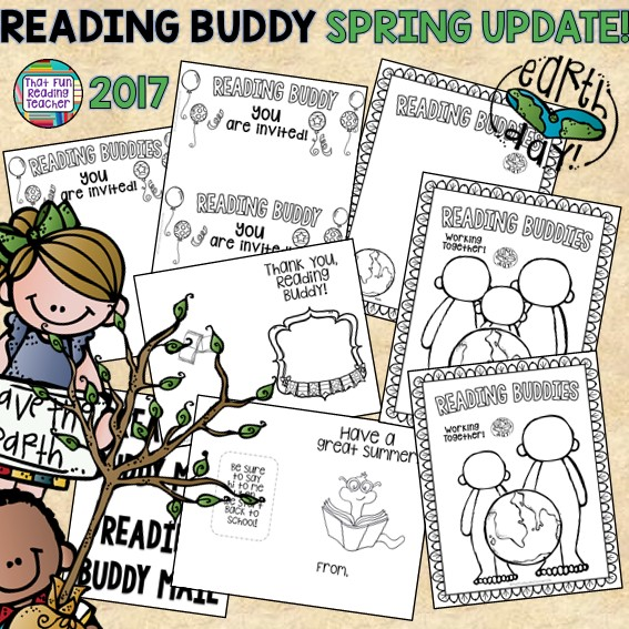 Reading Buddy Activities free update Spring 2017 | That Fun Reading Teacher