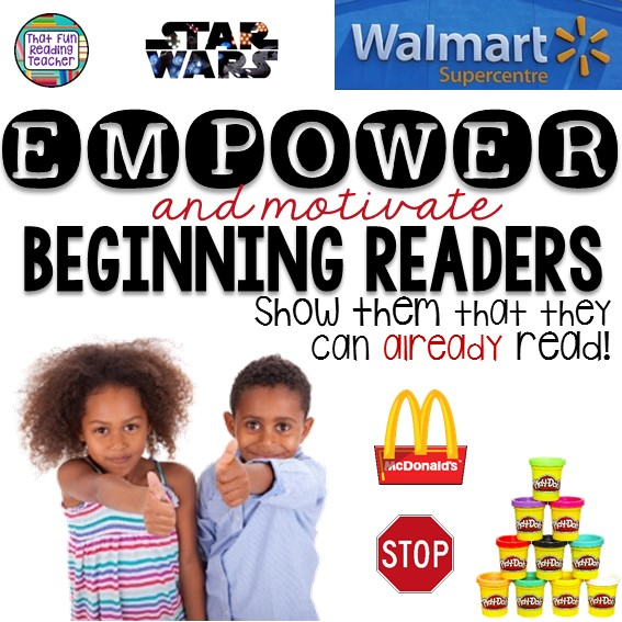 Empower beginning readers - show them they can already read!