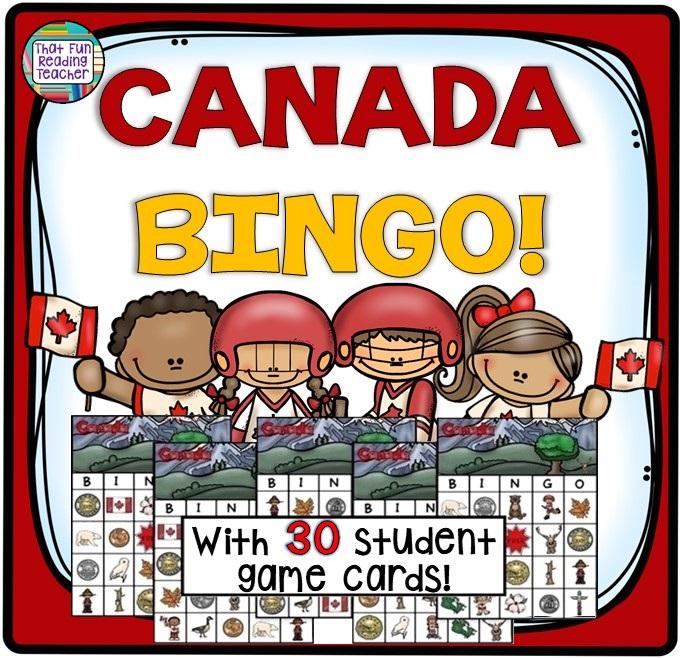 Canada BINGO game