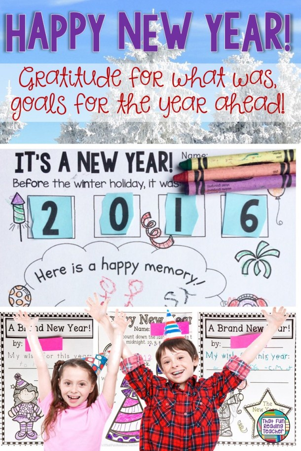 Gratitude and goals for the Happy New Year - and a link to a freebie! #education #free #iteach #iteachprimary #earlyyears #newyearactivities #kindergarten #gratitude