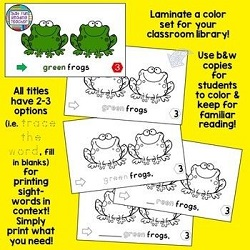 PreEmergent Level aa Sight-Word Stages Readers by That Fun Reading Teacher - laminate color copies to keep at school, differentiate line art copies for follow up and familiar reading folders!