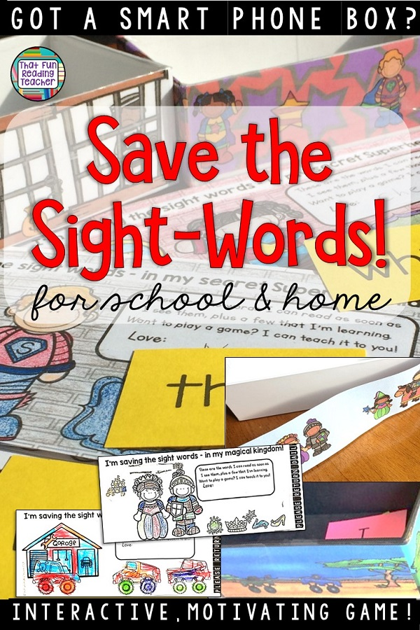 Save the Sight Words is a fun, fast-paced sight word game that motivates young students to remember more words! Click through for info on easy to differentiation and home component! $ #sightwords #kindergarten #1stgrade #tpt #earlylearning