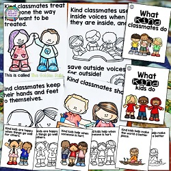 Kindness storybook lessons for K-2 students $ #kindness #teachingwithbooks #kindergarten #1stgrade #classroommanagement #tpt