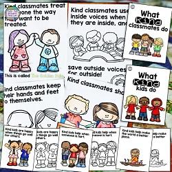 Kindness storybook lessons for K-2 students $ #kindness #teachingwithbooks #kindergarten #1stgrade #classroommanagement #tpt