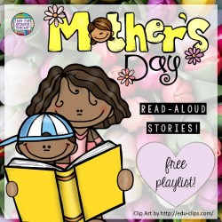 Free playlist: Read-aloud stories for Mother's Day! | That Fun Reading Teacher.com #mothersday #stories #kindergarten #1stgrade #teaching