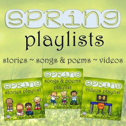 Free Spring Literacy playlists | That Fun Reading Teacher.com #kindergarten #1stgrade #earlyliteracy #teaching #spring
