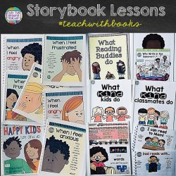 Storybook Lessons | That Fun Reading Teacher #teachwithbooks #feelings #emotions #earlyliteracy #tpt