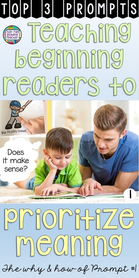 Does your reading make sense? Teaching beginning readers to prioritize meaning - The why and how of prompt 1
