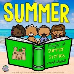 Playlist of summer stories, read-aloud! #summer #education #kindergarten #earlylearning #free