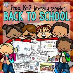 Free K-2 Back to School literacy sampler!