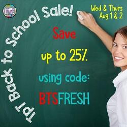 TpT's 2018 Back to School Sale
