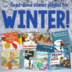 Winter Read-Aloud Stories playlist - free! #winter #stories #kindergarten #grade1 #1stgrade #listeningcenter #listeningcentre