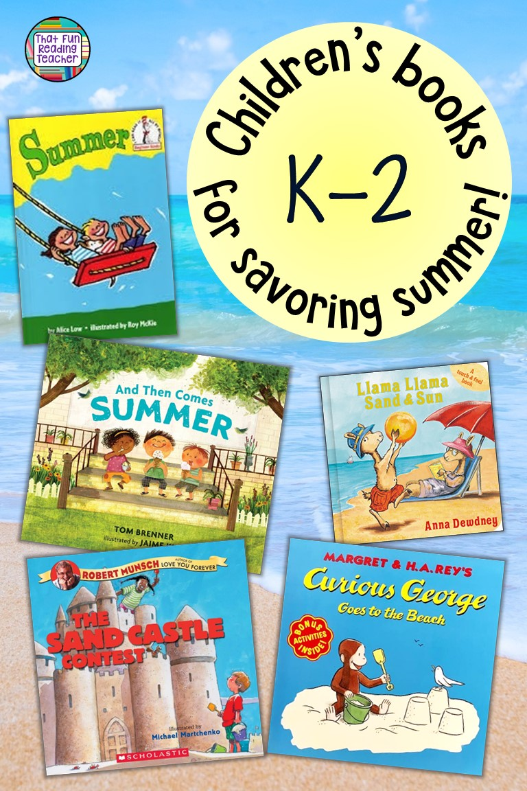 Summer themed children\'s stories to flood the senses with sights, sounds, smells and warmth of summer! #summerstories #kidlit #kindergarten #earlyliteracy #earlylearning #thatfunreadingteacher