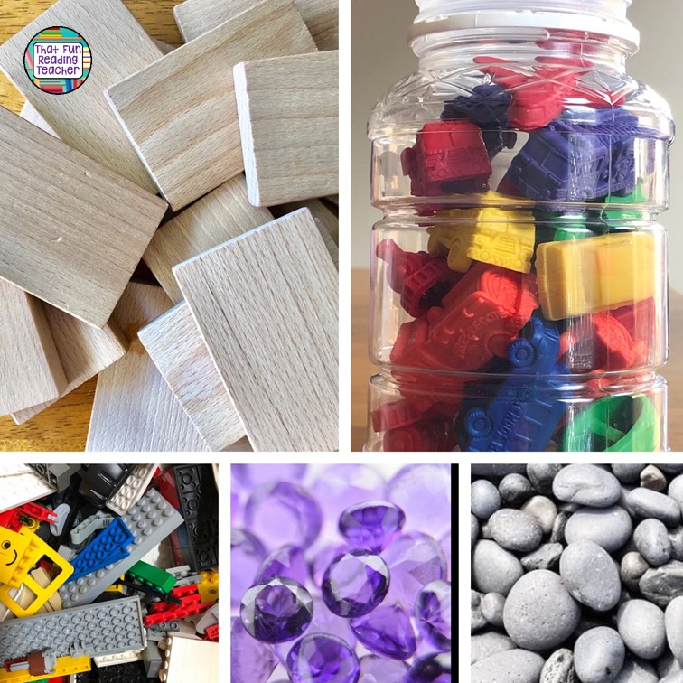 Young children are drawn to little things they can touch, explore and play with. Have various items and toys on tables and the carpet to engage kindergarten students! | That Fun Reading Teacher