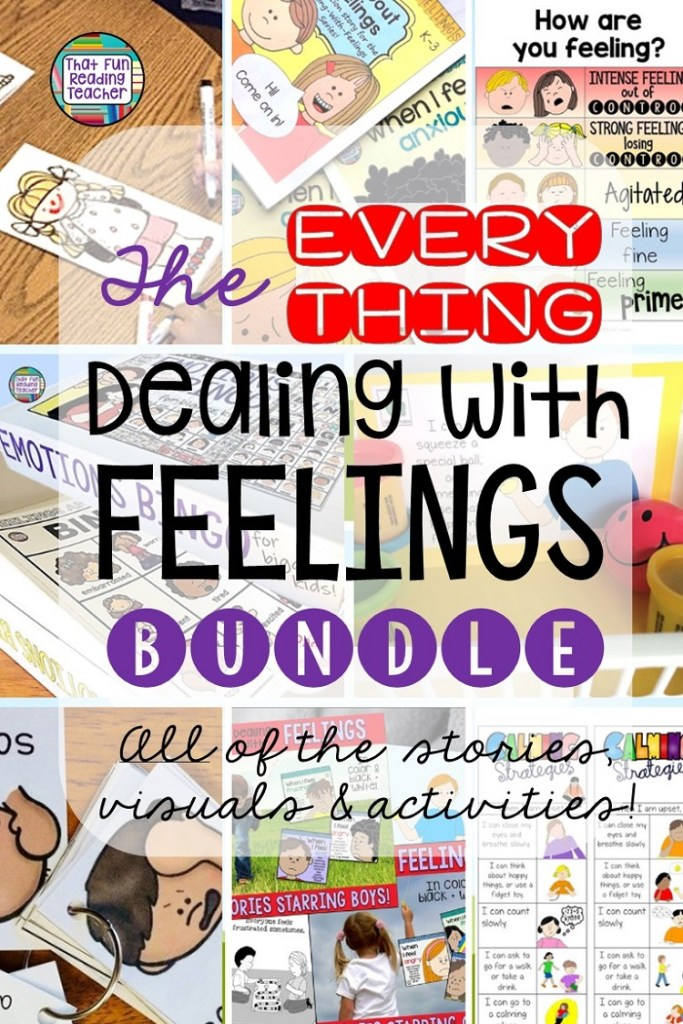 Teaching students how to manage feelings and emotions in the classroom? This bundle of storybook lessons, visuals and activities contains tried and true resources for K-4 students. Click through to read their feedback, and for more information!