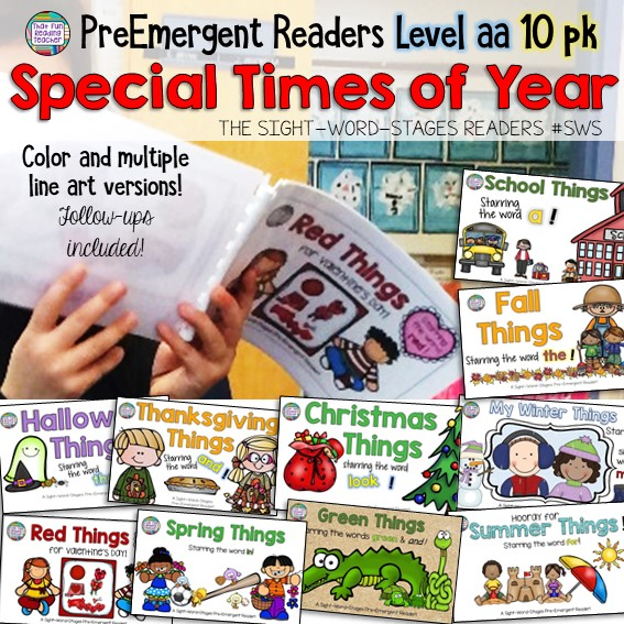 PreEmergent Level aa Sight-Word-Stages Holiday Pack | That Fun Reading Teacher