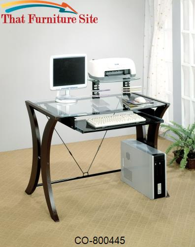 division table desk with glass top by coaster furniture austin