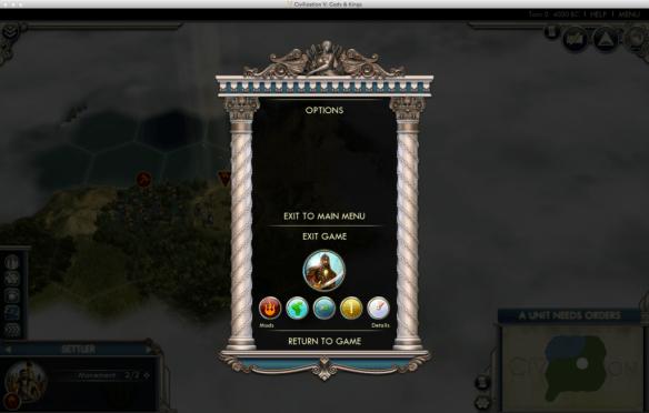 civv-in game menu