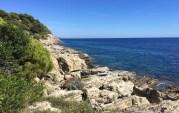 Limestone cliff.