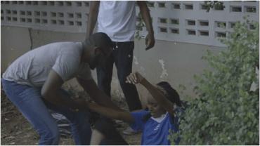 E7 Ngozi falls in gutter