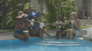 E12-Girls at the pool