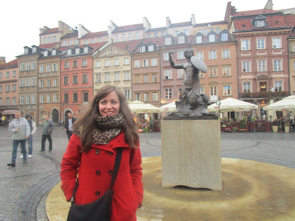 in the Old Town of Warsaw