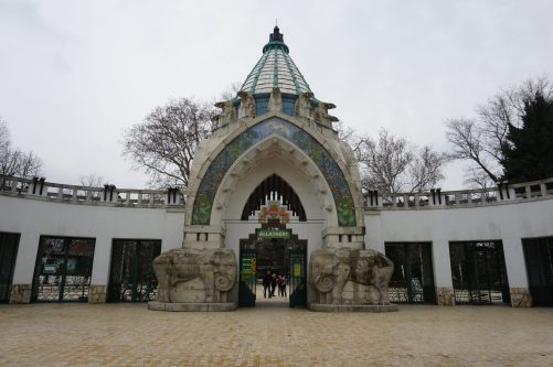 The entrance of the Budapest Zoo