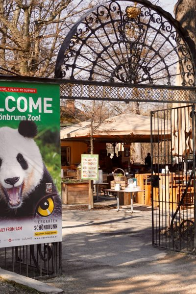 The entrance to the Schonbrunn Zoo in Vienna