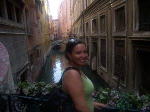 A very sun-burned me in Venice
